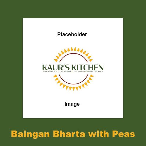 Baingan Bharta with Peas
